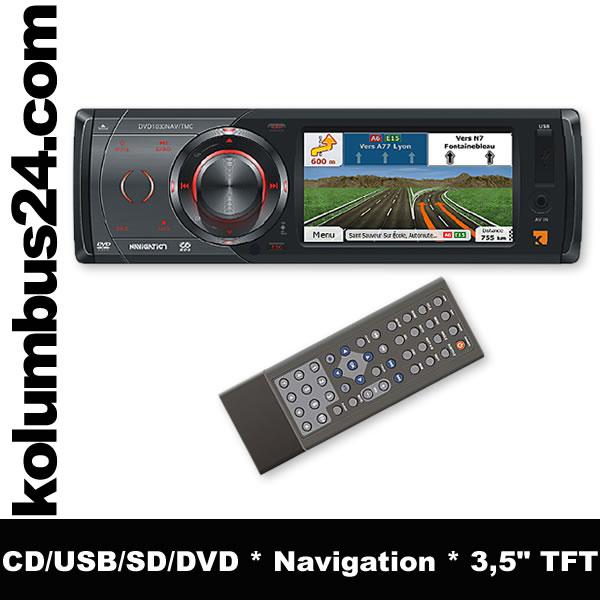 kienzle dvd 1030nav tmc 1 din radio navigation europa ebay. Black Bedroom Furniture Sets. Home Design Ideas