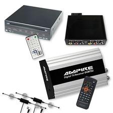 Ampire/Dietz DVB-T-Tuner DVBT52 & DVD-Player 85700 + Interface für BMW Navigation Professional (CiC) ohne Werks-TV-Tuner-Anschluss