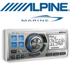 ALPINE Marine CDA-118M – Marine CD Receiver Waterproof / 1.8 DIN / iPod / iPhone / Bluetooth ready / USB / MP3 / WMA / AAC