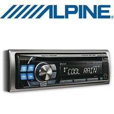 ALPINE CDE-114BTi – MP3/WMA/AAC CD RECEIVER (silber/blau)