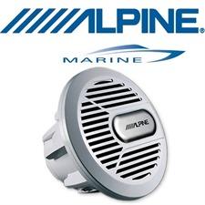 ALPINE SWR-M100 – Marine Subwoofer (silber)