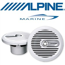 ALPINE SPS-M600w – 16,5 cm 2-Way Marine Coaxial Speaker (white)