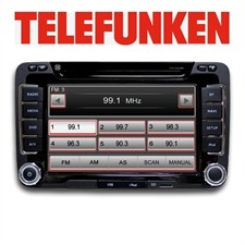 TELEFUNKEN TF AS 9280 VW - CARRADIONAVIGATION - 2 DIN RDS Navigation Tuner with DVD for VW & Seat