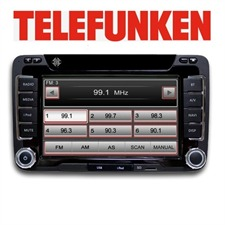 TELEFUNKEN TF AS 9180 VW - CARRADIONAVIGATION - 2 DIN RDS Navigation Tuner Bluetooth for Volkwagen & Seat