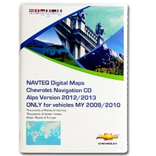 Navteq ALPS + MRE - Chevrolet Cruze MY09/10 Navigation 2012/2013