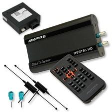 Ampire DVBT55-HD - DVB-T HD-Tuner + Interface für AUDI mit MMI2G (mit FBAS Videoeingang) + 2 Antennen (MPEG2 + MPEG4/ HDMI/ USB)