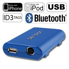 Dension Gateway Lite BT - GBL3BM1 - iPod / iPhone / USB / Bluetooth - Interface für BMW Business Professional 4:3 3 5 7 Compact X3 X5 Z3 Z8 MINI R55 (rund 17pin) ROVER 75