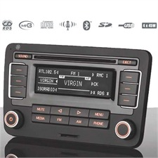 TELEFUNKEN TF AS 9090 VW - EXCELLENCE LINE 2 DIN RDS CD/MP3 Car Radio Tuner with USB & SD Bluetooth for Volkswagen / Seat