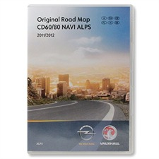 Navteq  Alps + MRE - Navigation CD60 / CD80 Delphi (CD) 2011/2012 for OPEL Antara Corsa D