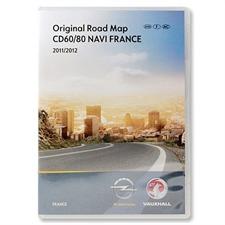 Navteq  Frankreich + MRE CD 2011/2012 Navigation CD60 CD80 Delphi für OPEL Antara Corsa D
