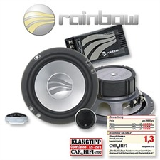 RAINBOW 231174 - 150 Watt 16,5 cm (6.5 Zoll) Sound Line SL-C6.2 Lautsprecher 2-Wege Compo Set