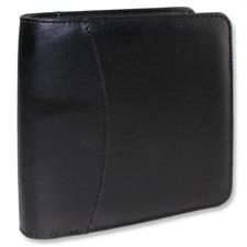 Kunstleder-CD/DVD-Schutztasche (15,5cm x 16,2cm x 4,5cm / für 28 CDs/DVDs / schwarz)