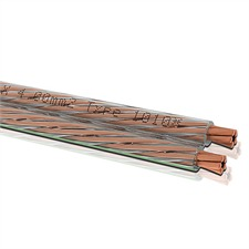 Oehlbach 1010 - Speaker Wire 40 - Lautsprecherkabel flexibel  (1m / transparent / Kupfer / 2x4,0 qmm)