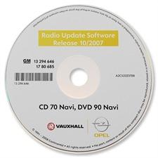 Betriebssoftware - Navigation / Radio Software-Update für Opel Navi CD70 / DVD90 (Stand 10/2007)