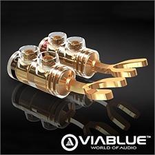 ViaBlue 30205 - TS Banana Tube - Bananenstecker (4 Stk / vergoldet)