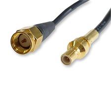 Dietz 14946 - 180mm Antennenadapterkabel SMB Stecker -> SMA Stecker (1 Stück / schwarz)