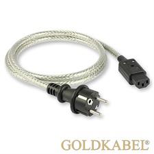 Goldkabel 114678 - POWERCORD Netzkabel (1 Stück / 1,0 m / schwarz/silber)