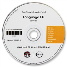 95164791 - original OPEL CD60 / CD80 / DVD100 Sprachen CD (Version 2011/2.0)