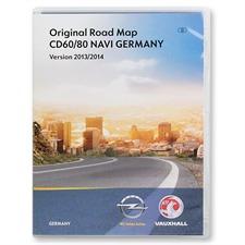 Navteq Deutschland + MRE - Navigation CD für OPEL Antara Corsa D (CD60/CD80 Delphi / 2013/2014)