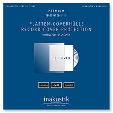 inakustik Platten-Coverhüllen für 12'' LP Cover (50 Stück / transparent)
