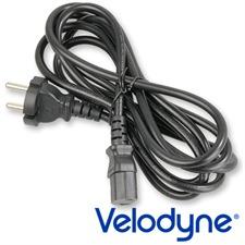 Velodyne Powercord - Netzkabel mit Schukostecker und Kaltgerätekupplung (1,8 m / schwarz)