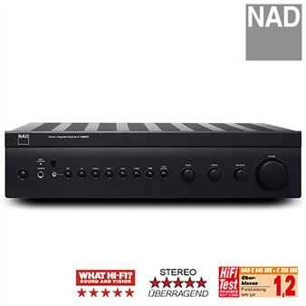 NAD C 326BEE - Stereo-Vollverstärker (2x50W / PowerDrive S / Soft Clipping™ / Fernbedienung)