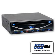 Ampire DVX104 - DVD-Player mit USB Schnittstelle (3/4 DIN)