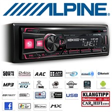 ALPINE CDE-183BT - CD Receiver with expanded Bluetooth function (iPod/iPhone-ready / MP3 / 4x50W / Front USB / Front AUX)