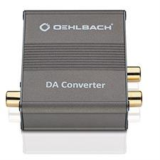 Oehlbach 6064 - Digital-Analog-Wandler, Digital-Koaxial- und Digital-Optischer-Eingang (1 Stück / anthrazit)