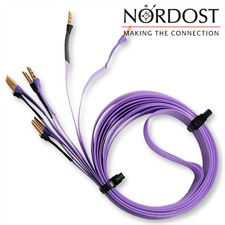 Nordost Purple Flare - Lautsprecherkabel ultraflach flexibel mit Bananas konfektioniert (2 x 3,0 m / lila / OFC)