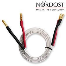 Nordost 2FL50 - 2 FLAT - Lautsprecherkabel ultraflach flexibel mit Bananas konfektioniert (2 x 2 m / weiß / OFC)