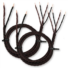 Kimber Kable 8PR - hochwertiges Lautsprecherkabel (2 x 5m / schwarz&braun / OFC / extra verflochten / 2 x 5,2mm²)