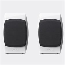 Technics SB-C700 - 2-Wege Bassreflex-Kompaktlautsprecher (100 Watt max. Eingangsleistung / koaxial / Hochglanz weiß / 1 Paar)