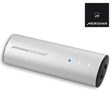 Meridian Explorer 2 - portable USB-D/A-converter (3.5mm headphone jack / MQA - Master Quality Authenticated / silver/black)