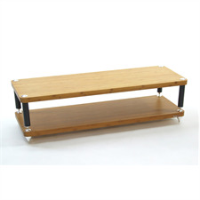 Atacama EVOQUE ECO 44/16 - DESIGN EDITION - hifi rack (total of 2 shelves made from light bamboo solid wood = light bamboo / legs in matt black finish / incl. spikes)