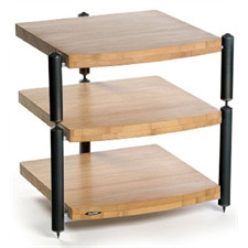 Atacama ERIS ECO 5.0 - hifi rack - 3 levels (total of 3 shelves made from light bamboo solid wood = natural bamboo / incl. spikes)