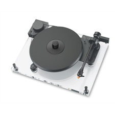 Pro-Ject Perspective Anniversary - record player incl. 9-inch tonearm + MM cartridge Ortofon 2M bronze (transparent acrylic chassis / incl. Speed Box / incl. Phono RCA cable)
