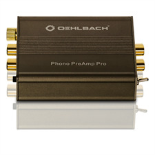 Oehlbach 6060 - Phono PreAmp Pro - verzerrungsarmer Phono-Vorverstärker für Plattenspieler (Moving-Magnet / Moving-Coil / Metallic braun)