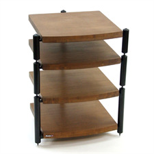 Atacama ERIS ECO 5.0 - hifi rack - 4 levels (total of 4 shelves made from dark bamboo solid wood = dark bamboo / incl. spikes)