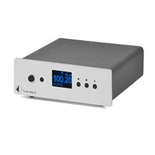 Pro-Ject Tuner Box S - fernbedienbarer UKW-Empfänger (mit Abstimmanzeige / mit Steuersignal / inkl. Netzteil / silber)