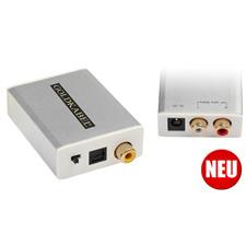 Goldkabel DAC MKIII 24 Bit / 96 kHz - Digital/Analog Wandler (Analog Stereo Ausgang / 1x Koaxial & 1x Optisch (Toslink) Eingänge / silber)
