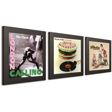 Art Vinyl Schallplattenrahmen - Play & Display für LPs (3er-Set / 12