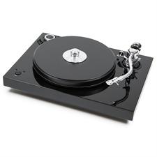 Pro-Ject 2-Xperience SB S-Shape - Plattenspieler inkl. 9 Zoll S-Shape Tonarm + Speedbox (Hochglanz schwarz / mit elektronischer Drehzahlregelung / inkl. Staubschutzhaube / ohne Tonabnehmer)