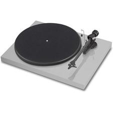 Pro-Ject Debut Carbon (DC) - Plattenspieler inkl. Tonarm + Ortofon MM-Tonabnehmer OM10 (Hochglanz hellgrau / inkl. Staubschutzhaube)