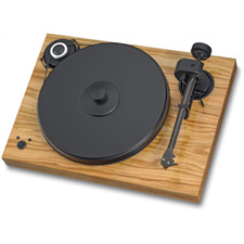 Pro-Ject 2-Xperience SB SuperPack - Plattenspieler inkl. Tonarm + Ortofon MM-Tonabnehmer 2M Bronze + Speedbox (olive / Drehzahlregelung / Tonarmkabel / Staubschutzhaube)