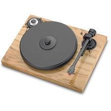 Pro-Ject 2-Xperience Classic - manueller Plattenspieler inkl. Pro-Ject Tonarm 9cc + Ortofon MM-Tonabnehmer 2M Silver (oliv glänzend / mit geradem 9