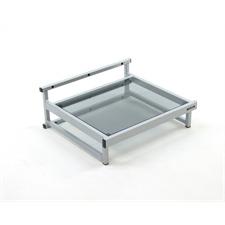 Atacama APOLLO - WT1 SE - Wandhalterung für Plattenspieler und andere HiFi-Geräte (Oberfläche aus Eichenholz / 1 Ebene / Stahlrahmenhalterung in Seidenschwarz)