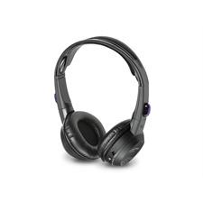 ALPINE SHS-N207 - 2-Kanal Infrarot-Kopfhörer (inkl. eingebautem Lautstärkeregler, Netzschalter und LED-Anzeige / Flach-Falt-Technologie / schwarz)