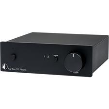 Pro-Ject A D Box S2 Phono - A D Wandler für Line & Phono + Phonovorstufe (MM/MC / mit USB und analogem Ausgang / schwarz)