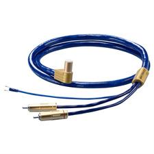 Ortofon 6NX-TSW 1010L - Tonarmkabel mit Masseleitung (RCA/5-Pin-SME L-Form / 1,20 m / blau/gold)